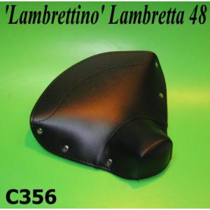 Copertina sella singola, nera, per ciclomotore Lambrettino 48