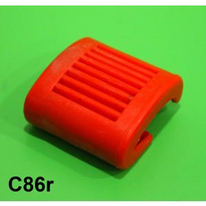 Protezione in gomma leva avviamento rossa Lambretta S2 + S3 + SX + DL + Serveta