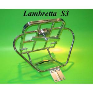 Portapacchi posteriore verticale modello 'Lusso' per Lambretta S3 + SX + DL + Serveta