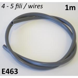 1 metro di guaina grigia diametro 8mm per impianto elettrico Lambretta + Vespa