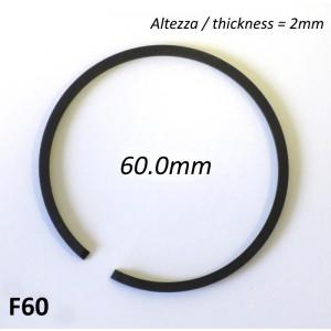 Fascia elastica (segmento) 60.0mm (altezza 2.0mm) tipo originale di alta qualità