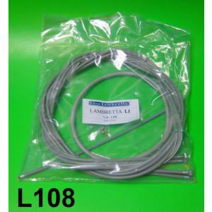Set completo di guaine e cavi (colore grigio) per Lambretta LI - TV - SX
