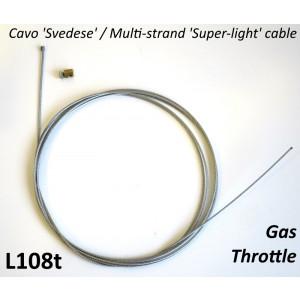 Cavo comando gas in acciaio svedese Universale