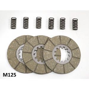 Kit dischi frizione + molle Lambretta A + B + C + LC + LD