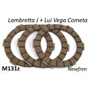 Kit dischi frizione Newfren Lambretta Lui 75S/SL + Cento + J125 3M + J125 Stellina