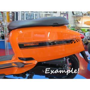Kit adesivi fiancate laterali Nero Lucido per Nuova Lambretta V Special