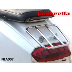 Portapacchi posteriore cromato 'sportivo' (modello orizzontale) per Lambretta V-Special