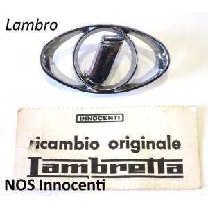 Stemma ovale 'I' Innocenti ORIGINALE NOS per motocarro Lambro