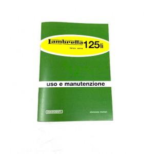 Libretto uso e manutenzione Lambretta 125 LI 3a. Serie