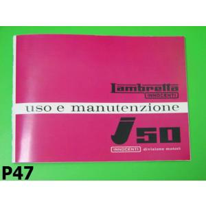 Libretto uso e manutenzione Lambretta J50 (Vers.1)