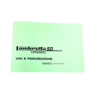 Libretto uso e manutenzione Lambretta J50 Deluxe