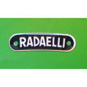 Scritta 'Radaelli' per sella