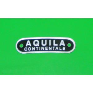 Scritta 'Aquila Continentale' per sella