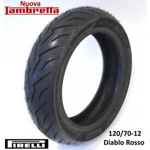 """Copertone pneumatico posteriore Pirelli 'Diablo Rosso' 120/70-12"""" 58P Rinforzato"""
