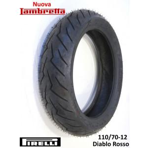 """Copertone pneumatico anteriore Pirelli 'Diablo Rosso' 110/70-12"""" 47P Rinforzato"""