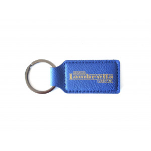 Portachiavi 'Rimini Lambretta Centre' in pelle blu