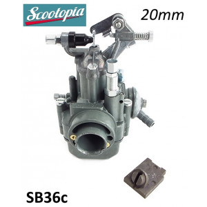 Carburatore Scootopia 20mm tipo Dell'Orto SH1/20 per Lambretta S3 + Special + SX + TV3 + DL + Serveta