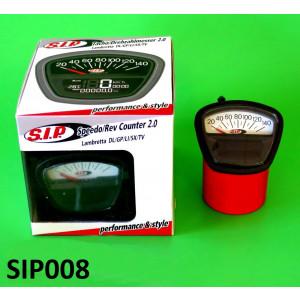 Contachilometri multifunzione SIP Bianco Lambretta S3 + TV3 + Special + SX + DL + Serveta