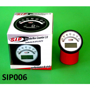 Contachilometri multifunzione SIP Bianco Lambretta S1 + S2