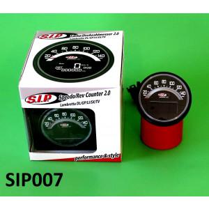 Contachilometri multifunzione SIP Nero Lambretta S1 + S2
