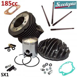 Kit cilindro Scootopia 185 per Lambretta S1 + S2 + TV2 + S3 + Special + TV3 + SX + DL + Serveta