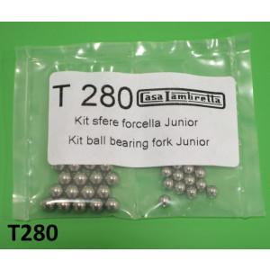 Kit sfere per forcella inferiore + superiore Lambretta J