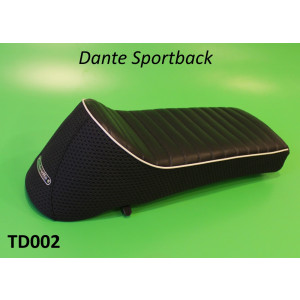 Sella sportiva RLC Dante Sportback nera Lambretta S1 + S2 + S3 + SX + DL