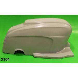 Carena posteriore in vetroresina Lambretta TV3 + Special + SX