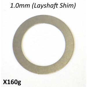 Spessore rasamento 1.0mm per sotto asse ruota posteriore per cambio 5 marce 'Cyclone 5 Speed'