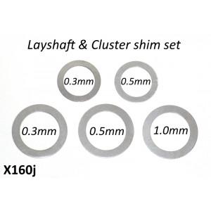 Set 5 rasamenti per cluster + asse ruota posteriore per cambio 5 marce 'Cyclone 5 Speed'