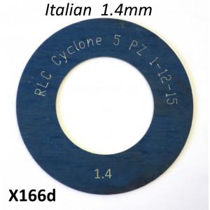 Spessore 1,4mm per 1° marcia del cambio Lambretta S1 + S2 + TV2 + S3 + TV3 + Special + SX + DL + Serveta