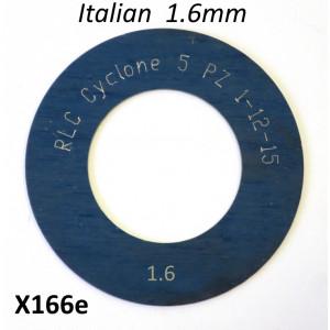 Spessore 1,6mm per 1° marcia del cambio Lambretta S1 + S2 + TV2 + S3 + TV3 + Special + SX + DL + Serveta