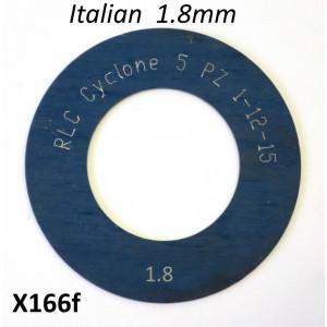 Spessore 1,8mm per 1° marcia del cambio Lambretta S1 + S2 + TV2 + S3 + TV3 + Special + SX + DL + Serveta