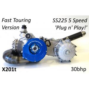 Motore completo Casa Performance SS225 5 marce Turismo Veloce per Lambretta S1 + S2 + TV2 + S3 +TV3 + Special + SX + DL + Serveta