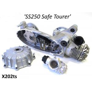 Motore Casa Performance SS250 Safe Tourer parzialmente assemblato per Lambretta S1 + S2 + TV2 + S3 + TV3 + Special +SX + DL + Serveta