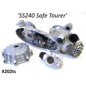 Motore Casa Performance SS240 Safe Tourer parzialmente assemblato per Lambretta S1 + S2 + TV2 + S3 + TV3 + Special +SX + DL + Serveta