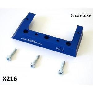 Staffa (anodizzato BLU) supporto cuffia copri-cilindro per chiocciola volano CasaCase