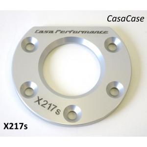 Piastra per cuscinetto ruota posteriore (anodizzato ARGENTO) per blocco motore CasaCase