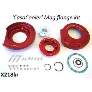Kit CasaCooler flangia chiocciola CNC (colore rosso) per motore originali Lambretta