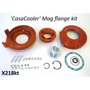 Kit CasaCooler flangia chiocciola CNC (colore arancio) per motore originali Lambretta