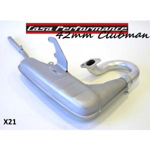 Marmitta Casa Performance Clubman 42mm Lambretta S1 + S2 + S3 + TV3 + Special + SX + DL + Serveta