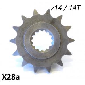 Pignone motore z14 per Lambretta J + Lui 3 marce