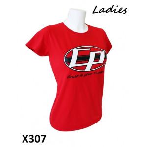 Maglietta Donna 'Casa Performance' rossa con logo ovale