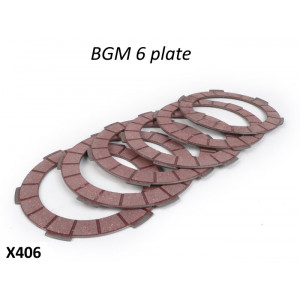 Kit 6 dischi in sughero (rossi) per frizione BGM Superstrong