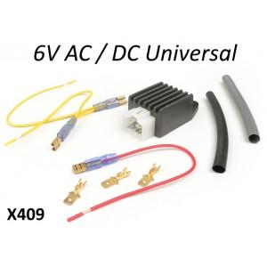 Regolatore corrente 6 volt AC /DC universale per tutte le Lambretta S1 S2 S3 GP DL Serveta con accensione a 6V.