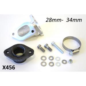 Kit collettore aspirazione BGM CNC per carburatori 28-34mm. Per cilindri 200 & 225cc
