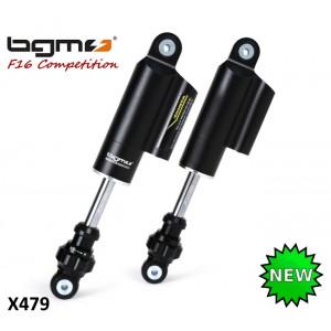 Ammortizzatori anteriori BGM 'PRO F16 COMPETITION' Neri per Lambretta S1 + S2 + S3 + DL