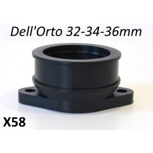 Manicotto in gomma Casa Performance per carburatore Dell'Orto 32/34/36mm per kit CP SS200 + SS225
