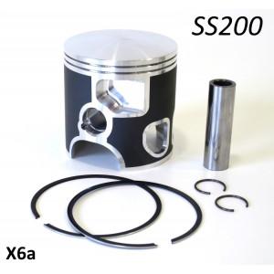 Pistone completo Meteor per kit cilindro Casa Performance SS200 (diametro 66mm) + variazioni