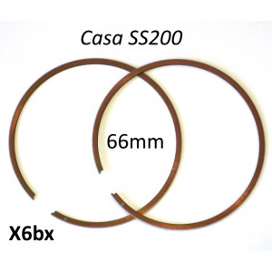 Coppia fasce elastiche pistone 66mm per kit Casa Performance SS200 (+ kit simili da 200cc)